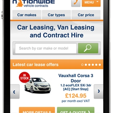 New Mobile Optimised Website Live for Nationwide Vehicle Contracts