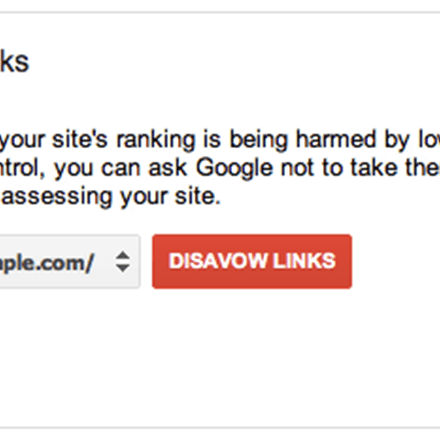 Google Release 'Disavow Links' Tool