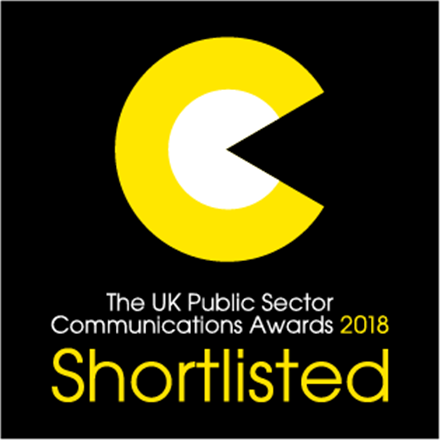 Fresh Egg are shortlisted in the 2018 Public Sector Communication Awards