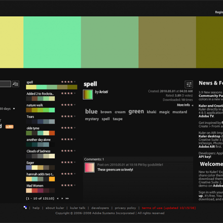 Adobe Kuler - The Ultimate Colour Reference Tool For Designers