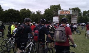 Fresh Egg team about to start the London 2 Brighton bike ride