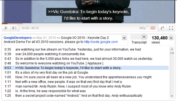 YouTube transcript