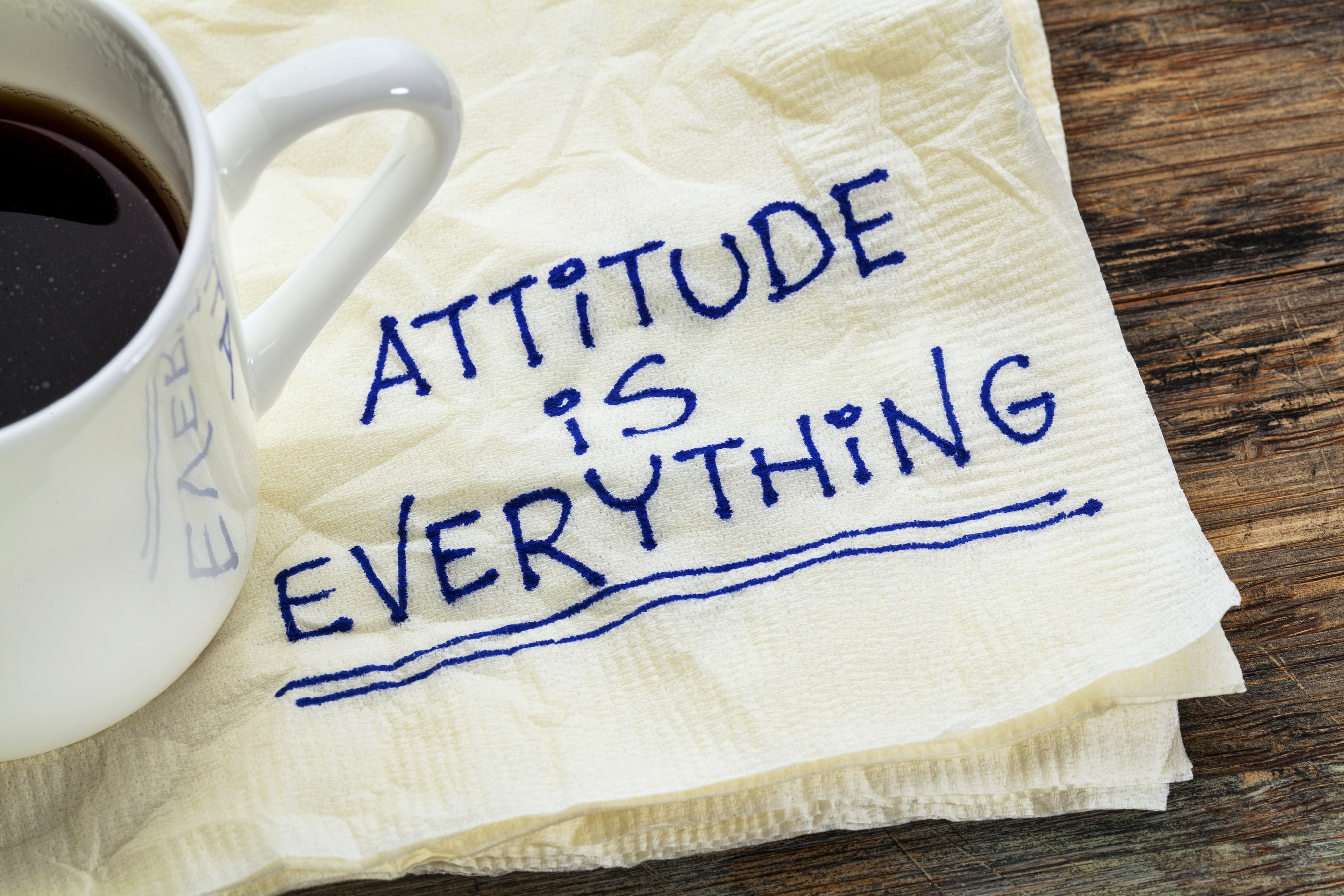 Attitude is everything – showing gravitas