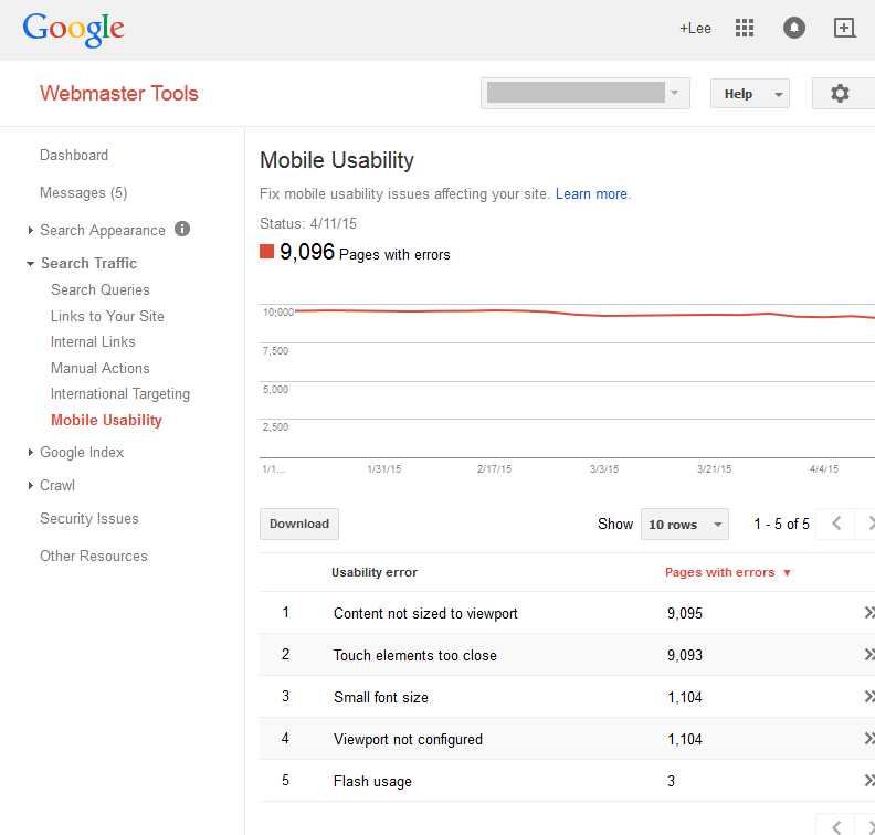 mobile web master tools