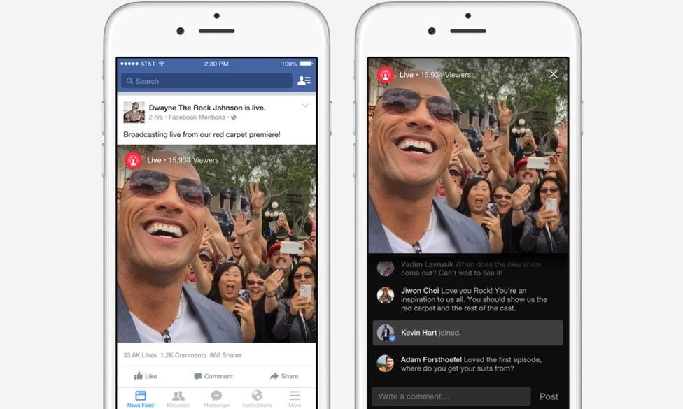 Facebook Live video in News Feed