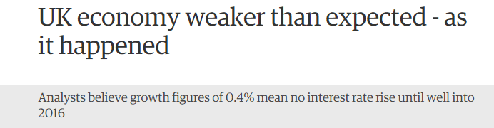 Shorter Guardian headline - economy