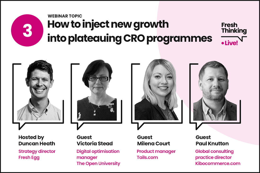 How to inject new growth into plateauing CRO programmes