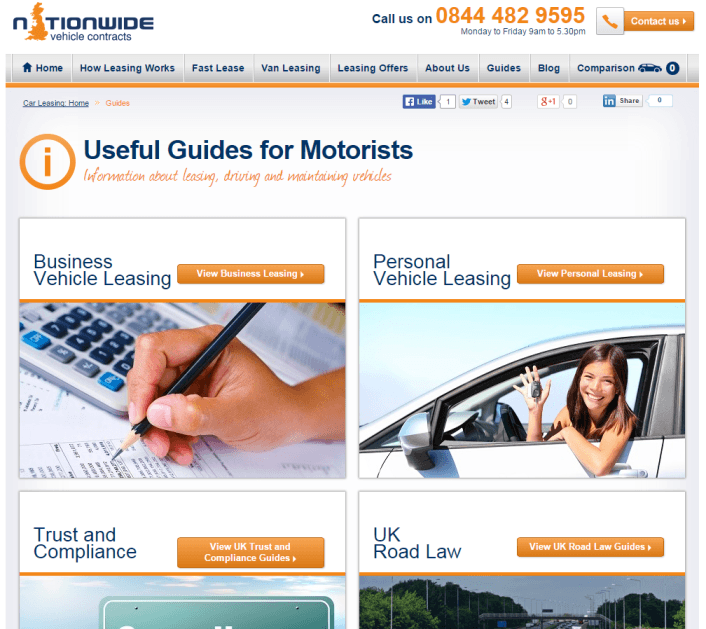 Nationwide Vehicle Contracts motoring guides