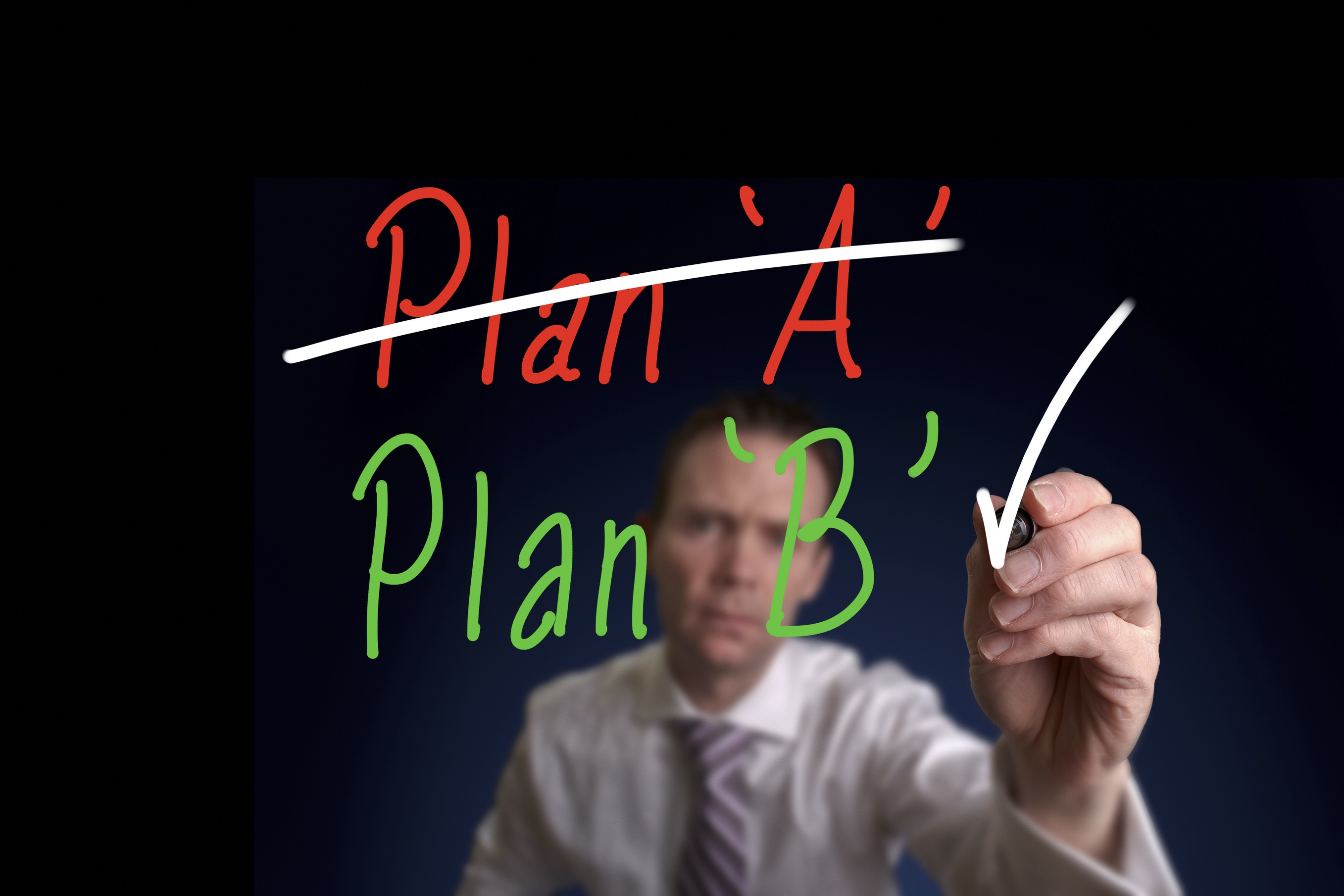 Being adaptable when Plan A changes to Plan B