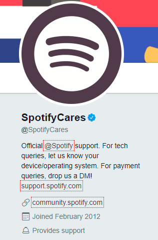 Spotify customer support