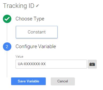 tracking id variable