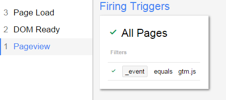triggers pageview debug