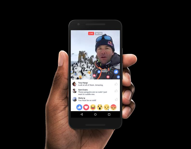 Users commenting on a Facebook Live video