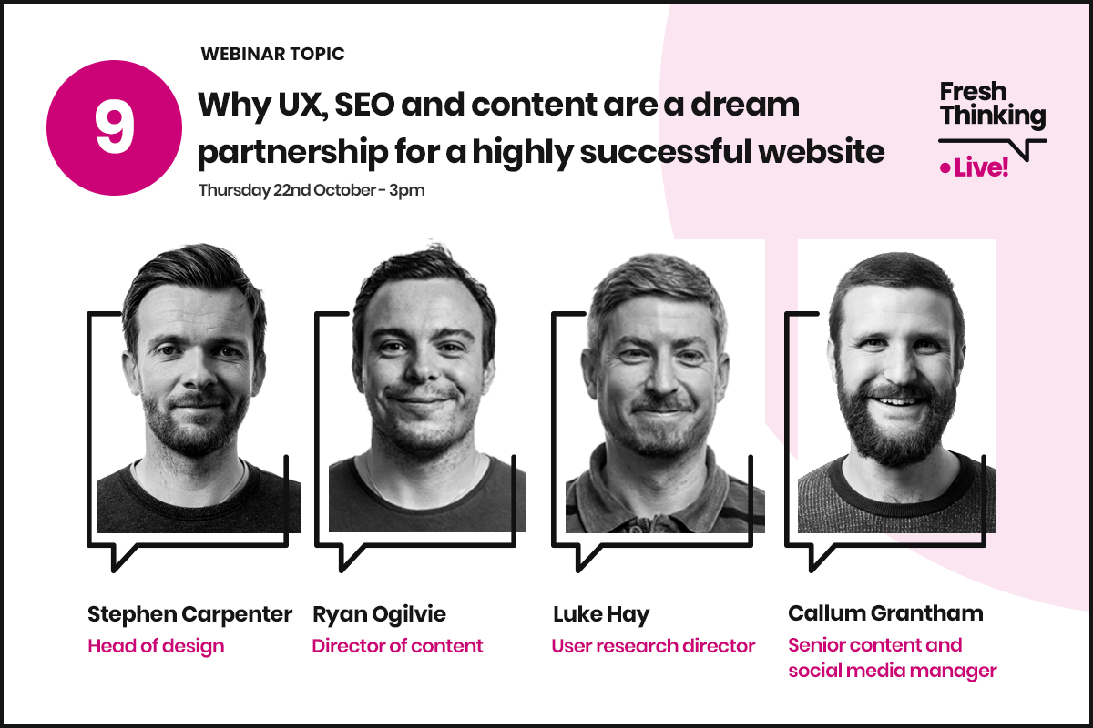 Why UX, SEO and content are a dream partnership for a highly successful website